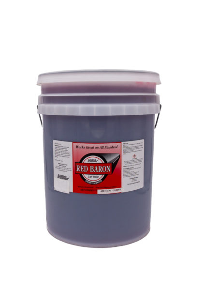 Red Baron Car Wash 5 gallon bucket
